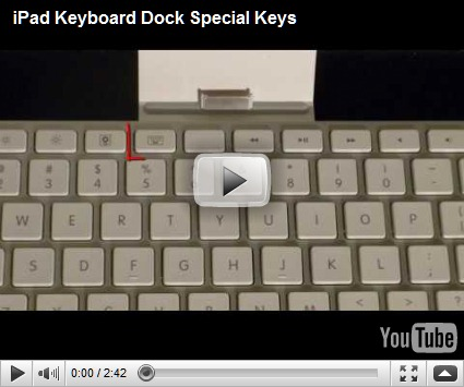 iPad Keyboard Dock – Special Keys – Thoughts from the Field